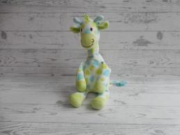 Happy Horse knuffel velours wit blauw groen giraffe Goffy