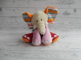 Happy Horse knuffel velours gebreid roze oranje groen olifant Gaby