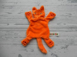 Dikkie Dik Jet Boeke knuffeldoek knuffellap velours oranje rood