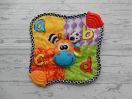 Bambino Playgro knuffeldoek koe alfabet a b c d bijtstukken