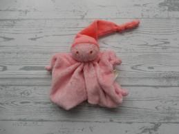 Difrax knuffeldoek softdoek tutpopje roze felroze
