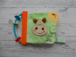 Tiamo buggyboekje velours groen oranje blauw nijlpaard Harry Hippo