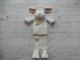Nicotoy groeimeter velours teddy ecru creme Schaap