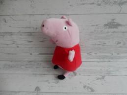 Peppa Pig Play by Play knuffel velours donker roze jurkje