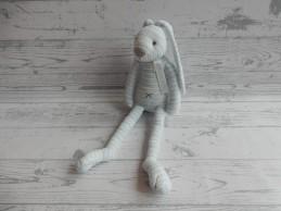 Happy Horse knuffel velours blauw gestreept Konijn Reece No.1 28 cm