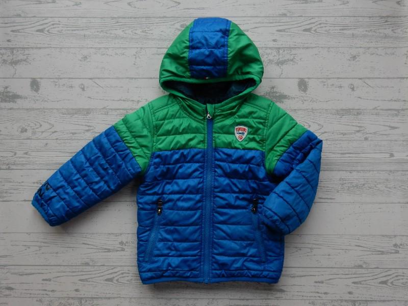 Winterjas 104.Vingino Winterjas Blauw Groen Jeans Tuomo Maat 104