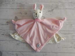 Simba Toys knuffeldoek badstof katoen ecru roze Konijn