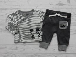 Hema newborn set overslag shirt grijs gestreept Jip en Janneke maat 62