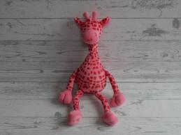 Baby Little Me Hans Textiel knuffel velours roze vlekken giraf giraffe