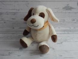 Natalis FBTO knuffel velours beige bruin hond Snoef