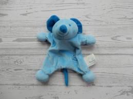 Tiamo Kinderopvang Friesland knuffeldoekje velours blauw Muis