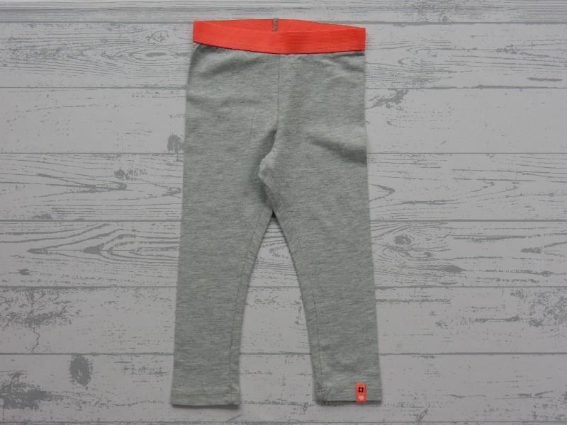 Legging grijs mêlee fel oranje maat 80