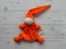 Tiamo de Kandeel Zwangerin lappenpopje velours oranje