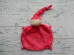 Difrax knuffeldoek softdoek velours fuchsiaroze roze small klein