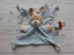 Simba Toys knuffeldoek velours beige ecru blauw Konijn Nieuw!