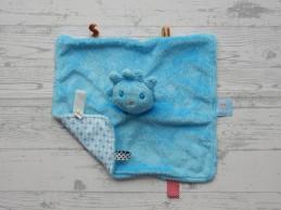 Snoozebaby knuffel knuffeldoek velours blauw jongen Zeb