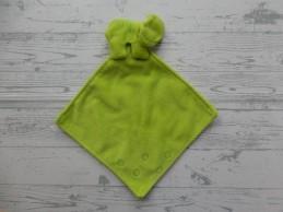 Unitoys knuffeldoek velours groen knisper Kikker