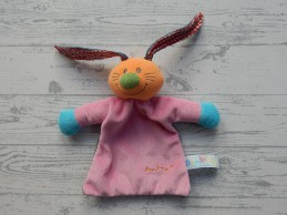 Bambino knuffeldoek velours roze grijs blauw konijn Bets Bunny