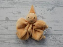 Difrax knuffeldoek softdoek tutpopje velours licht oranje