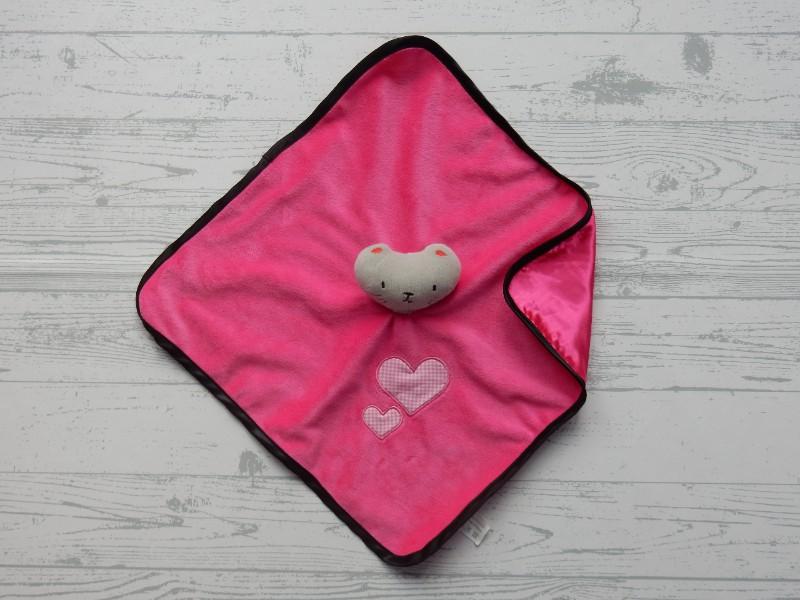 J.i.P JiP knuffeldoek velours satijn fuchsia roze Poes