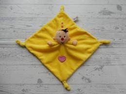 Bumba Studio 100 knuffeldoek velours geel