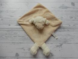 PIA Soft Toys knuffeldoek velours beige Schaap