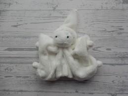 Difrax knuffeldoek softdoek tutpopje velours wit