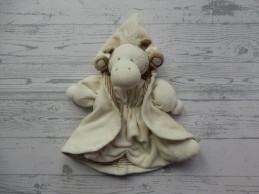 Happy Horse knuffeldoek velours beige bruin giraffe 2000