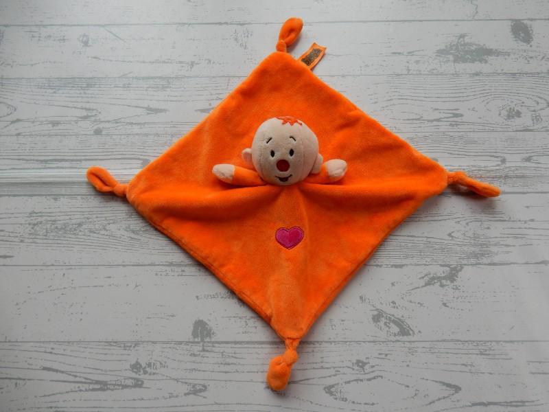 Bumba Studio 100 knuffeldoek velours oranje Babilu