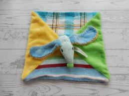 Happy Horse knuffeldoek velours blauw groen hond Dog Dinkey