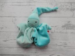 Prenatal knuffeldoek tuttel tutpopje velours blauw