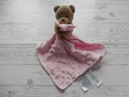 Carter's Child of mine knuffeldoek velours beigebruin roze Teddy Beer