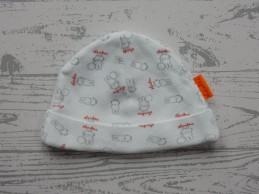 Nijntje newborn mutsje wit grijs rood Nijntje 1 maat