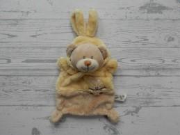 Grain de Ble Zannier knuffeldoek velours bruin geel beer konijn