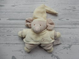 Tiamo Collection knuffel rammelaar beige bruin shirtje Muis