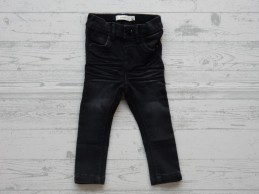 Name it jeans Polly Carlia dark grey denim slim maat 80