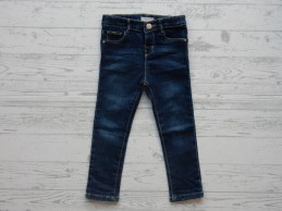 Mango Kids baby denim donker blauw slim fit maat 92