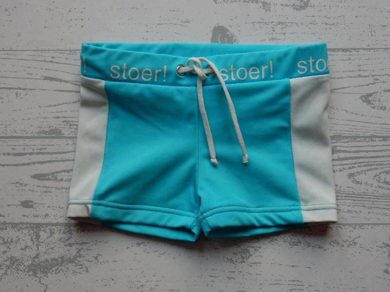 Lief! Lifestyle zwembroek blauw wit Stoer! maat 74-80