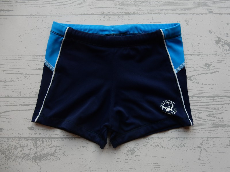 Maat Zwembroek.Zwembroek Donkerblauw Blauw Wit Maat 110 116