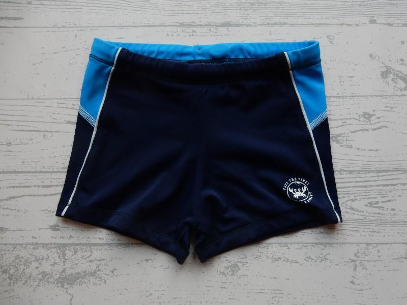 Zwembroek donkerblauw blauw wit maat 110-116