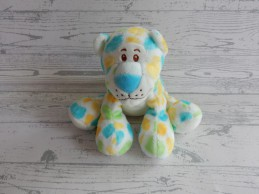 Anna Club Plush velours wit blauw groen geel gevlekt tijger Jungle Jim