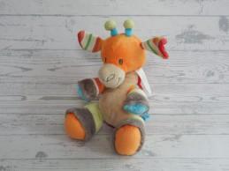 Happy Horse knuffel velours gebreid oranje groen rood Giraffe Giro