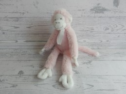 Happy Horse knuffel velours roze wit aap Monkey Mickey