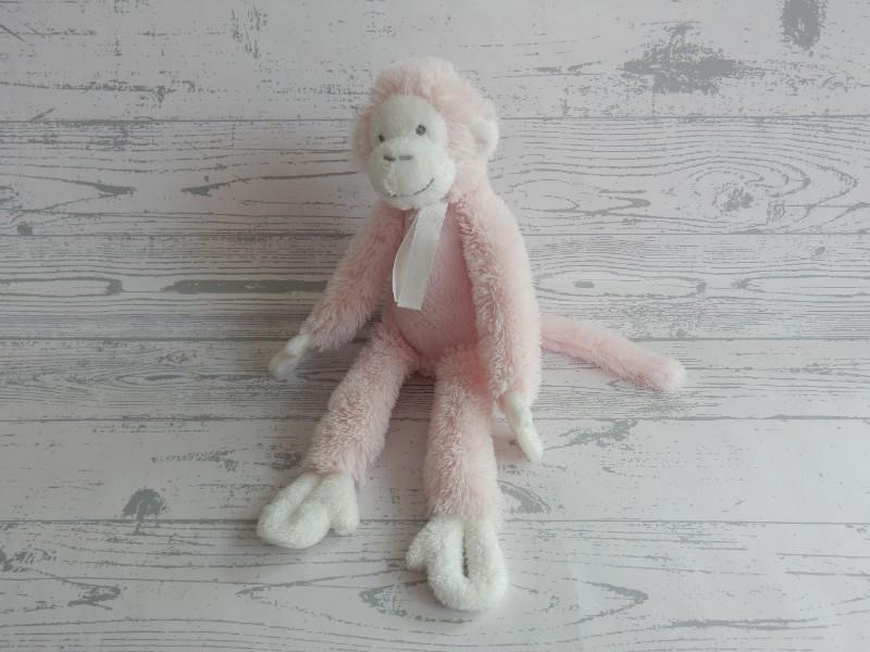 Happy Horse knuffel velours roze wit aap Monkey Mickey