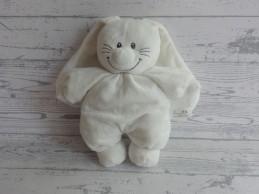 Tiamo Basic Bunny knuffel velours wit konijn