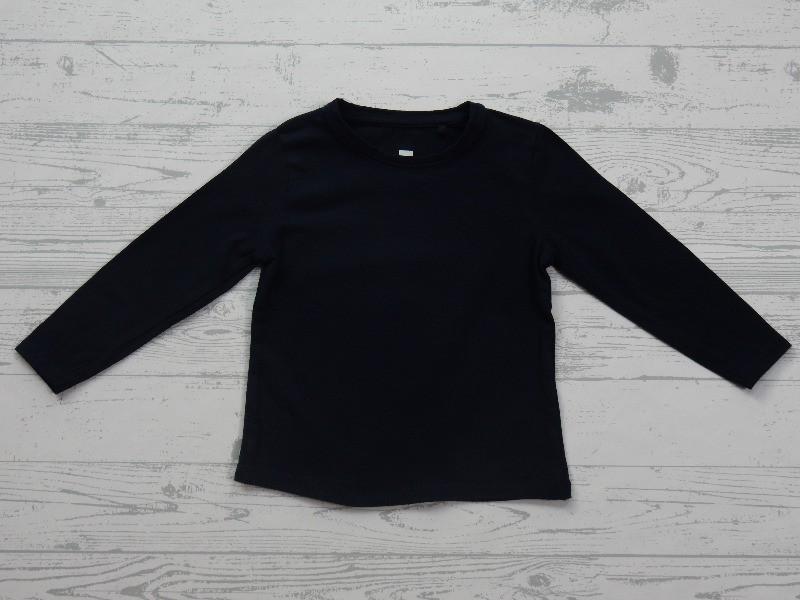 Hema basic kinder shirt longsleeve donkerblauw maat 86 92