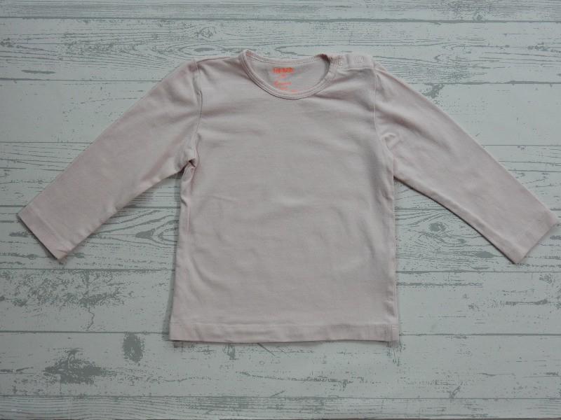 Hema basic shirt longsleeve licht lichtroze maat 86