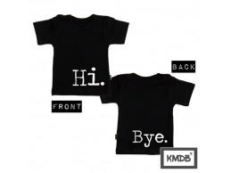 KMDB t-shirt zwart Hi. Bye.