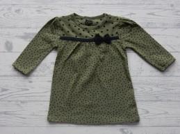 Z8 newborn jurk legergroen...