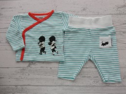 Hema newborn set aquablauw...